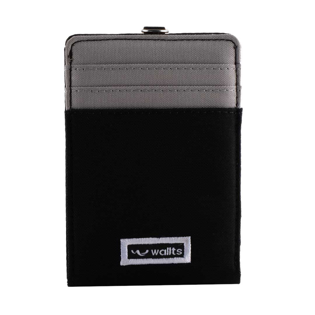 Helen ID Card Wallet Black - Grey