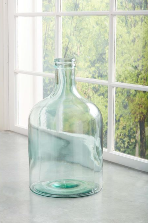 Oversize Glass Bottle Vase