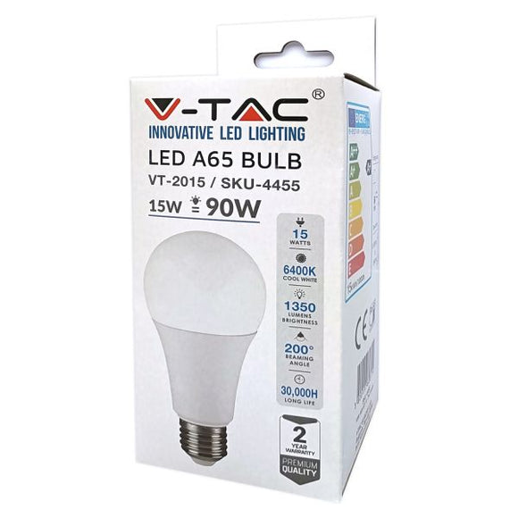 Lampada VT-2015 15w=90w led a 65 bulb (6400k cool white)