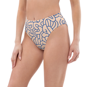 Graffiti High-waisted bikini bottom