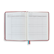 Load image into Gallery viewer, The Midsize OrganiseherTM Diary 2021 in Cherry Red Lizard