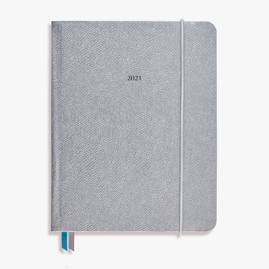 The Large OrganiseherTM Diary 2021 in Silver Lizard
