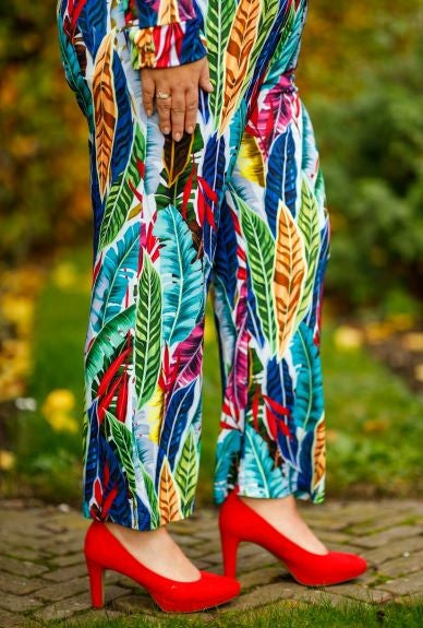Anna Pants Multi Leaf