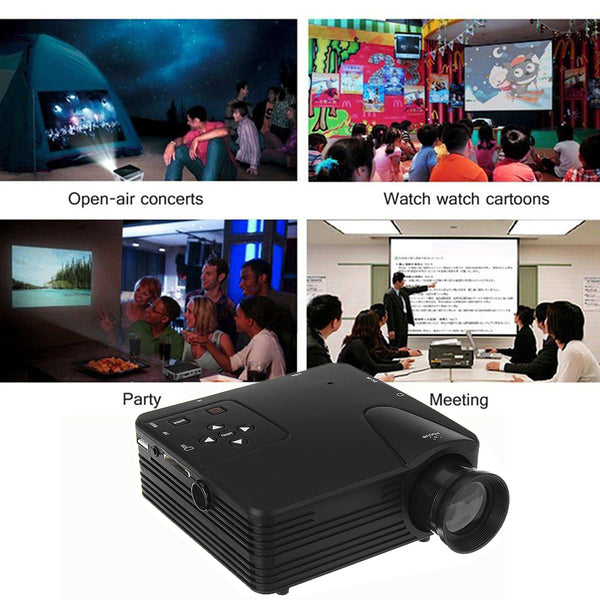 LCD Projectors 640*480 Support 1080P 400LM 100 inches Wireless Portable Smart Home Theater Projector With Remote Control