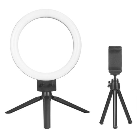 "Tripod with 9"" Dimmable LED Ring Light for Phone and Camera Selfie Photos"