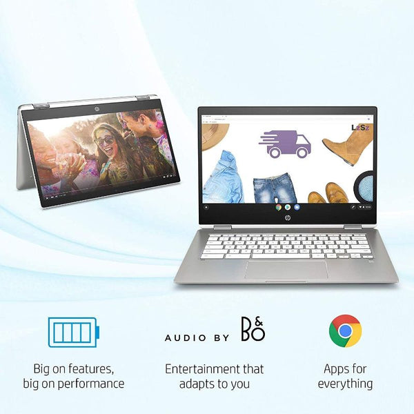 HP Chromebook X360 14In HD Touchscreen Laptop  Intel Celeron N4000