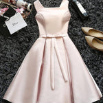 #1439 Square Neck Pleated Mini Dress with Band and Bow
