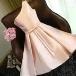 #1442 One Shoulder Box Pleat Mini Dress with Band and Bow