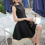 #1488 Sleeveless Pleat Mini Dress