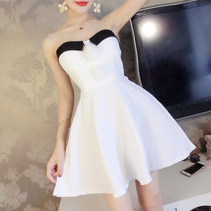 #1500 Tube Pleat Mini Dress with Balls
