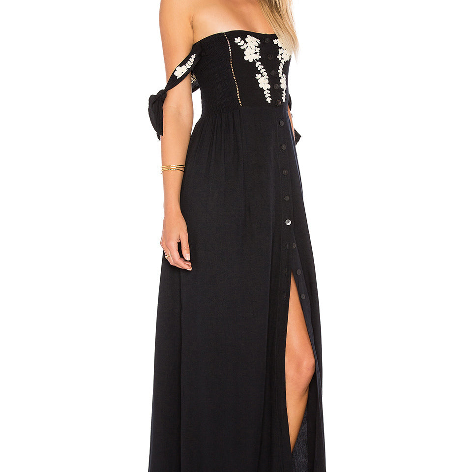 1504 Lotus Sexy Tube Midi Dress