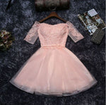 #1307 Embroidered Lace Band Skater Mini Dress with Double layers