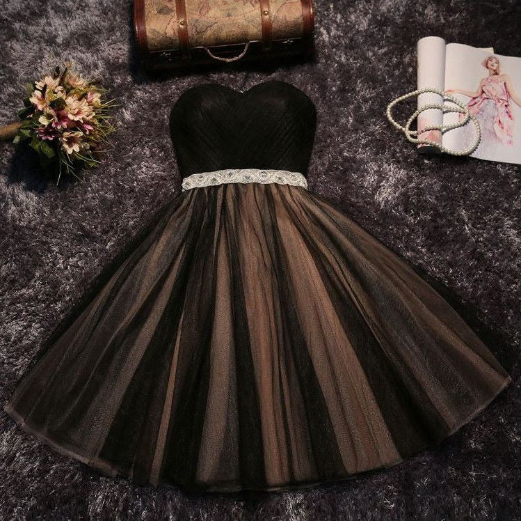 #1309 Strapless Pleated Mini Dress Band with Belt