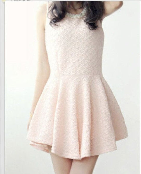#250 Beading Sleeveless Puff Dress