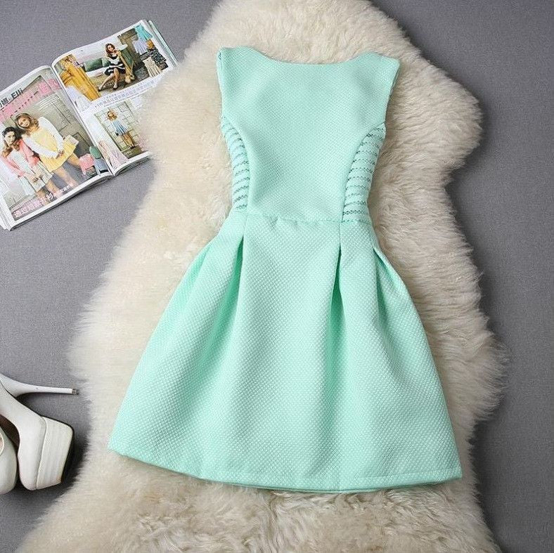 #589 Solid Color Dress