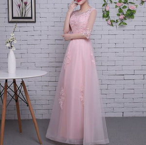 #1351 Round Neck Solid colour in Floral Embroidered Metallic Lace Dress