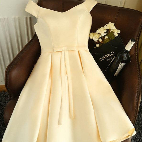 #1441 Bardot Neck Box Pleat Mini Dress with Band and Bow