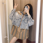 #5007 2 Piece Set Denim Jacket
