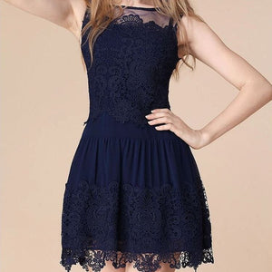 #5 Crochet Lace with Embroidered Hem Mini Dress