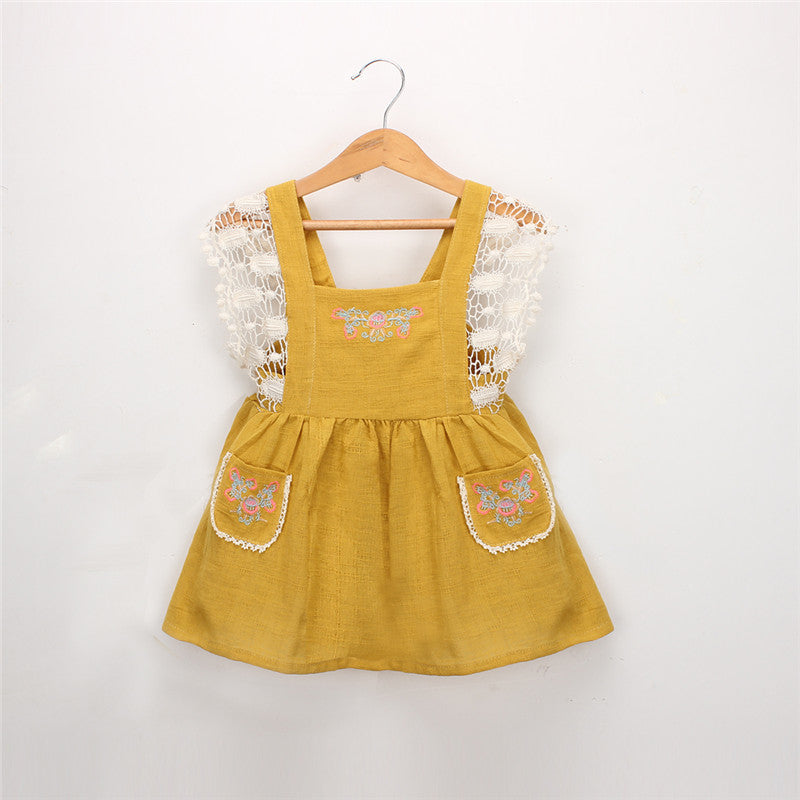 #1553 Kid-One-piece Sleeveless Dress