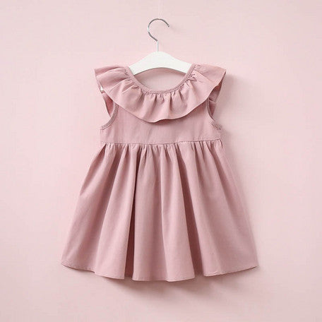 #1554 Kid- Sleeveless Dress with Bow