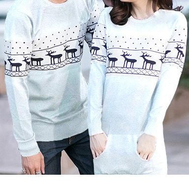 #852 Deer Sweater Matching Outfit