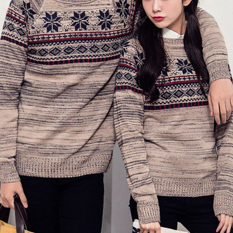#864 Ethnic Sweater Matching Outfit