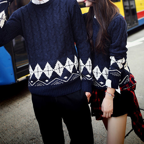 #878 Jacquard Sweater Matching Outfit