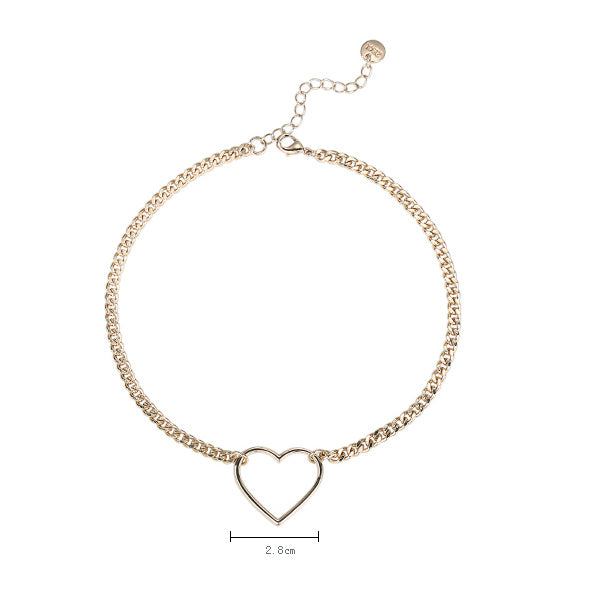 #N00024 Sweet Heart Necklace in Gold