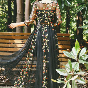 #1174 Needle & Thread in Sheer Maxi Dress