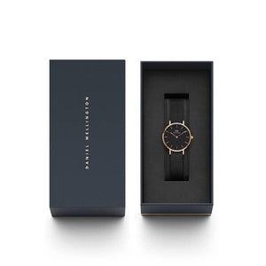 DanielWellington Women Classic Petite Ashfield Rose Gold Black Watch