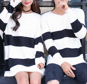 #M0005 Knit Sweater & Jumper Dress in Stripe Match Outfit