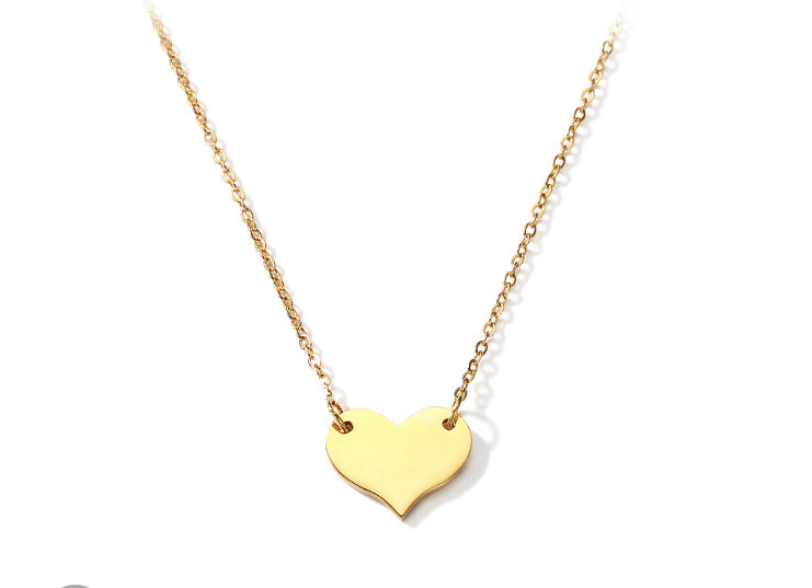 #N00011 Sweet Heart Necklace in Gold