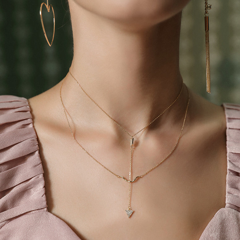 #N00016 Double Layers Necklace
