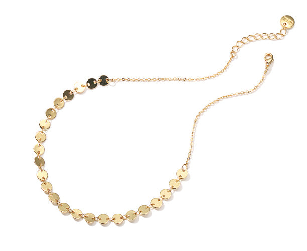 #N00021 Beads Short Necklace in Gold