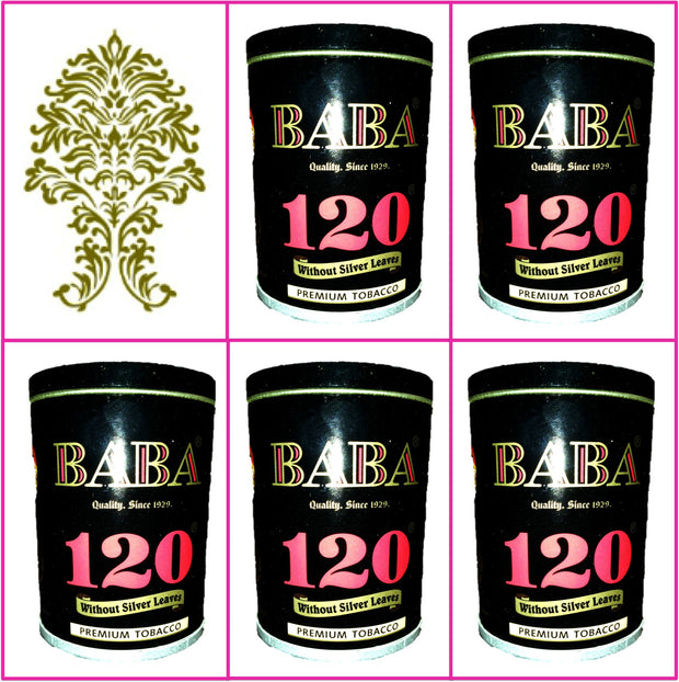 5 Cans Baba 120 Without Silver Leaves 50g Each January 2020
