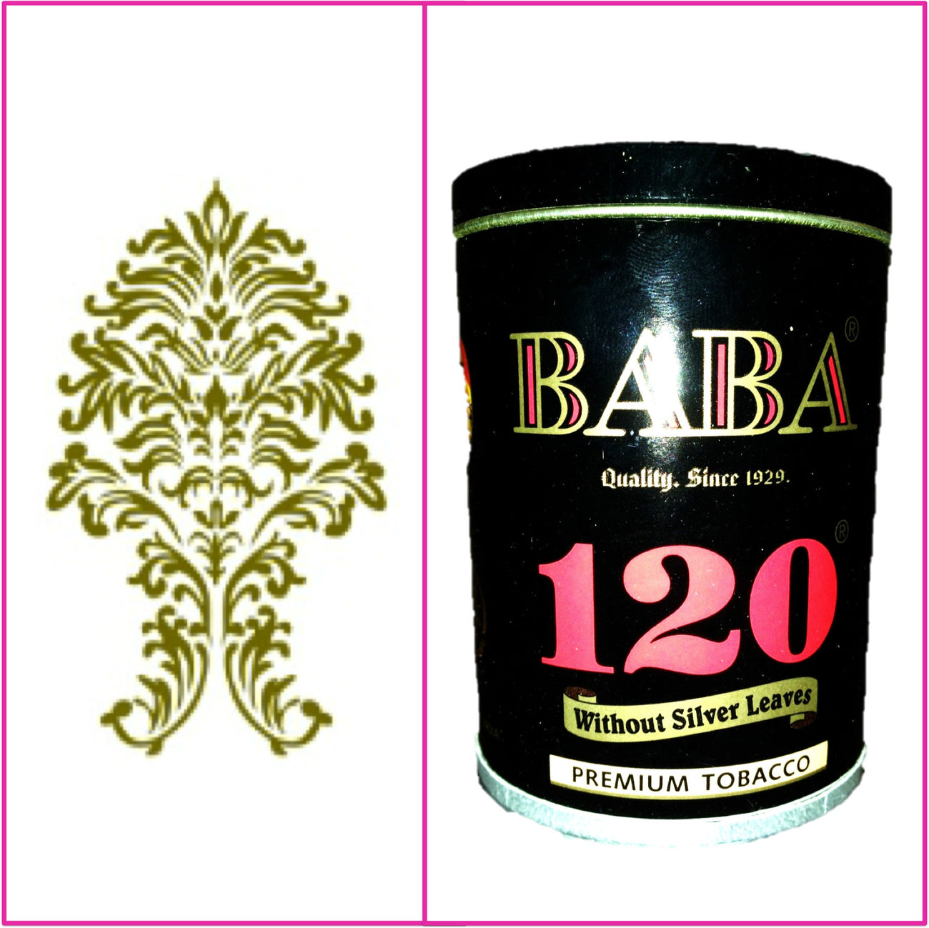 ONE Can Baba 120 Without Silver Leaves 50g Each January 2020