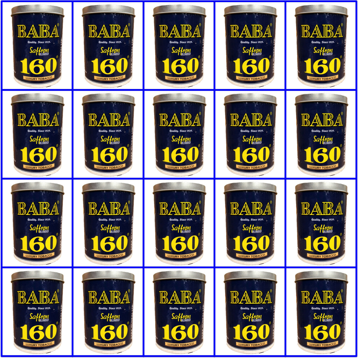 20 Cans. Baba 160 Luxury Tobacco. 50g Ea. July 2018 Fresh