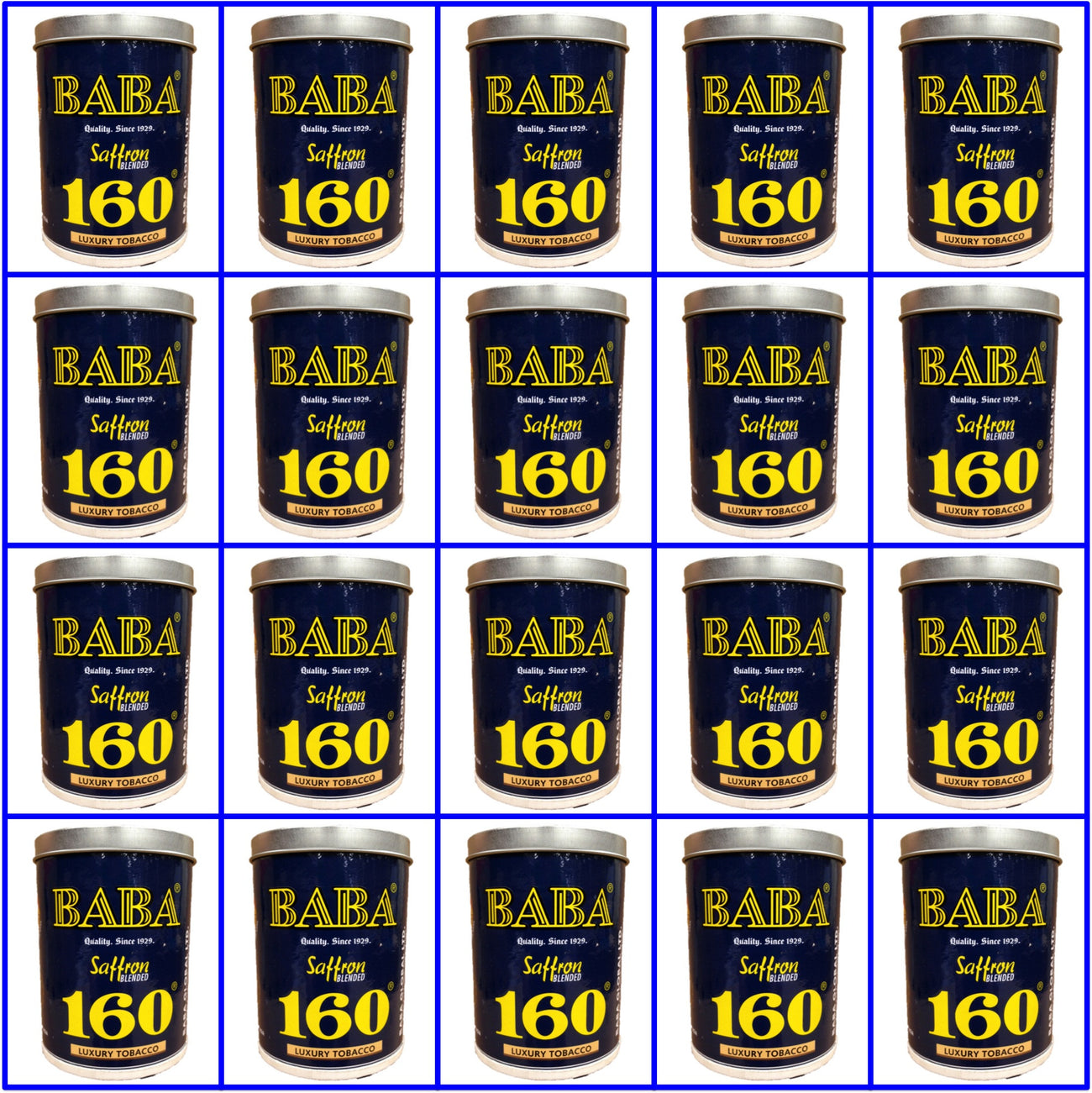 20 Cans Baba 160 Luxury Tobacco 50g Each  Fresh