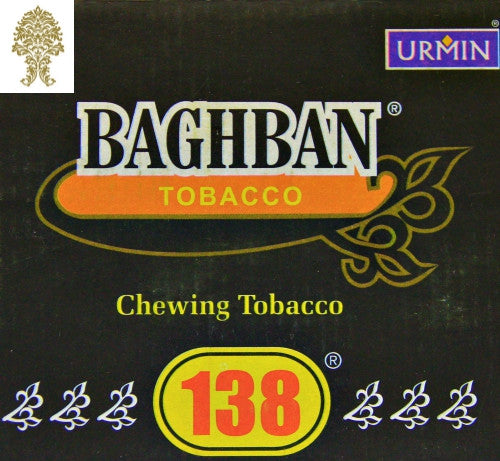 ONE Box (10 pieces) Baghban Silver Tobacco 50 gram each piece