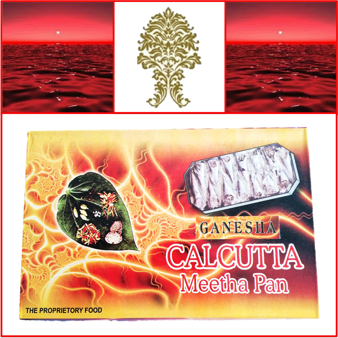 ONE Box Calcutta Mitha Pan (Paan) 14 Pieces Each