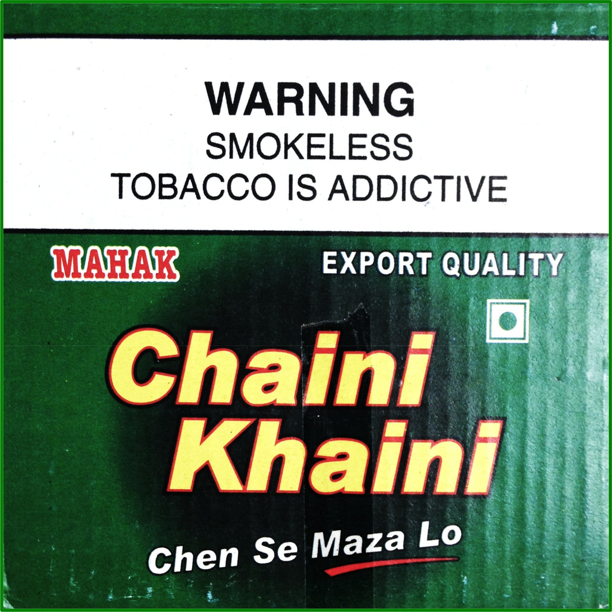 20 Boxes. Chaini Khaini. Best Indian Tobacco. 20 x 4.5g Ea. October 2018