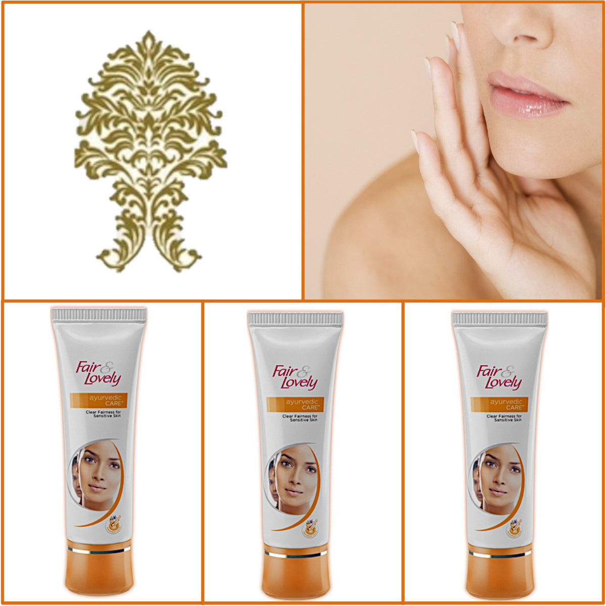 3 Pack F&L Ayurvedic Cream - Glowing Radiant Skin 50g Each