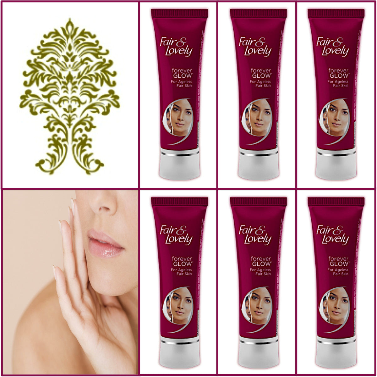 6 Pack Fair & Lovely Forever Glow Cream - Younger Looking Skin 50g Each
