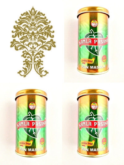 Three (3) Cans. 100g Kamla Pasand Pan Masala. Export Quality