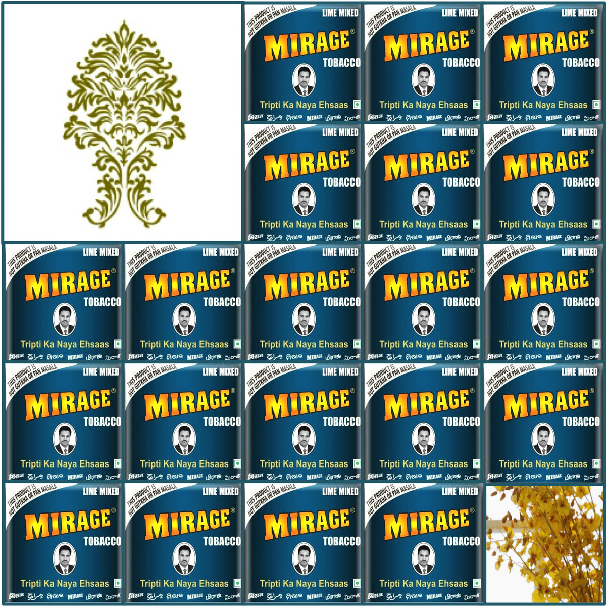 20 Boxes. Mirage Blue Tobacco in Plastic Pack. 30x20g Each.