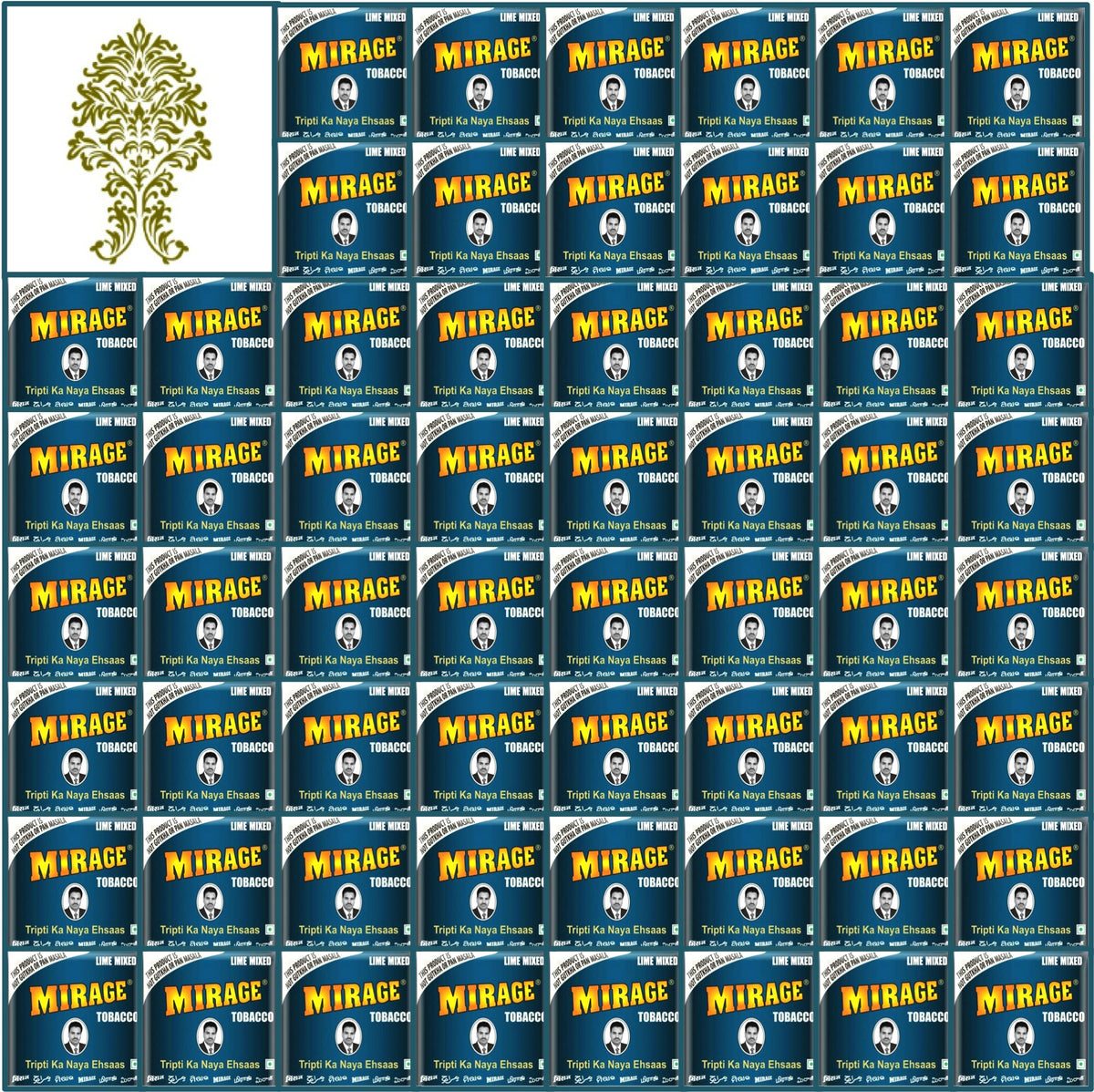 60 Boxes. Mirage Blue Tobacco in Plastic Pack. 30x20g Each.