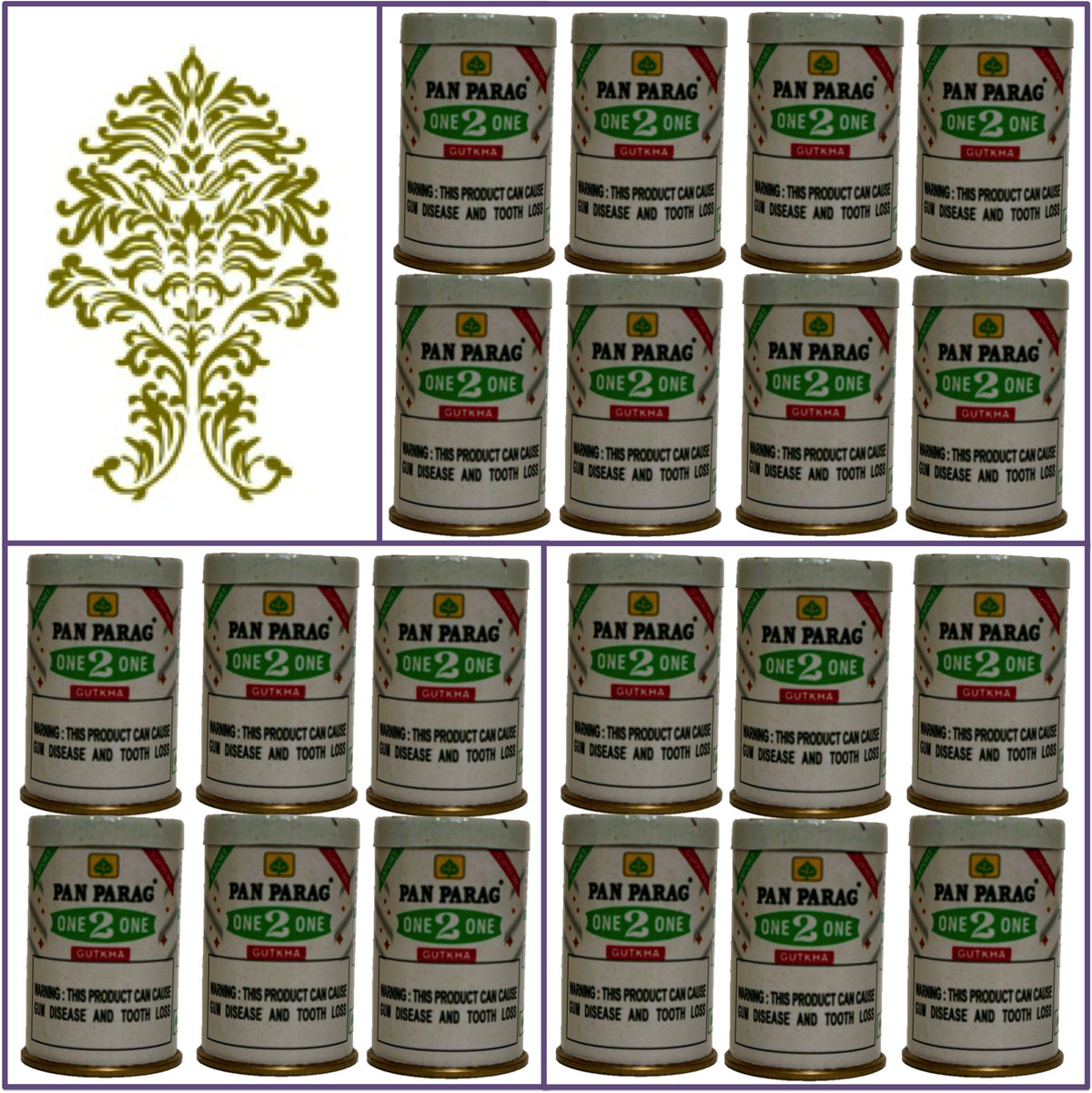 20 Cans Pan Parag One 2 One Gutkha 16g Each Export Quality