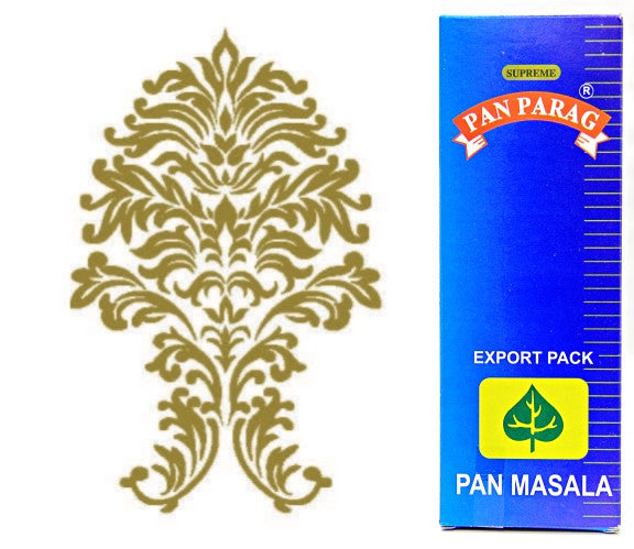 ONE Box (50 pouches) Pan Parag 4gm Pan Masala. Export Quality