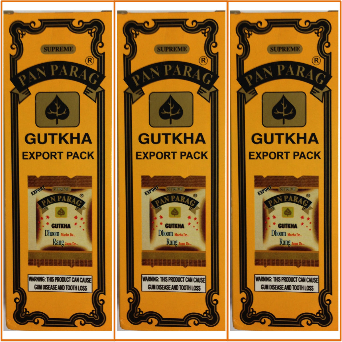 3 Boxes. Pan Parag Gutkha. 27x18g Each. Export Quality!